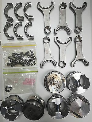 RB25 RB26 Forged 86.5mm Pistons and Rods Eagle Arias ARP Bolts