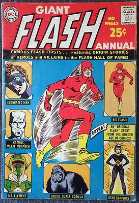 Flash Annual #1 (1963) - Famous Flash Firsts! - Giant 80 Pages!!