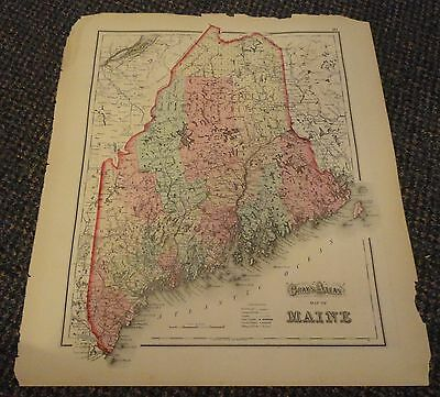 1873 Map of Maine, Vermont, and New Hampshire  - from 1873 Gray's Atlas