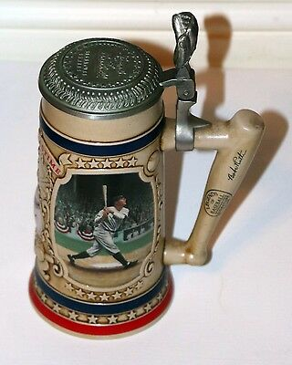 BABE RUTH BEER STEIN - The Bradford Museum Legends of Baseball Sei
