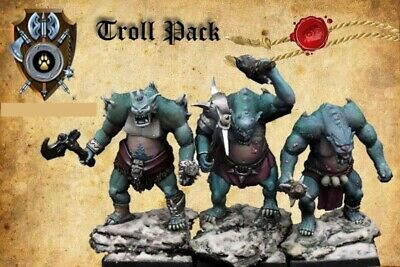 Shieldwolf Miniatures Krumvaal Northern Alliance Trolls (3 Miniatures Pack)