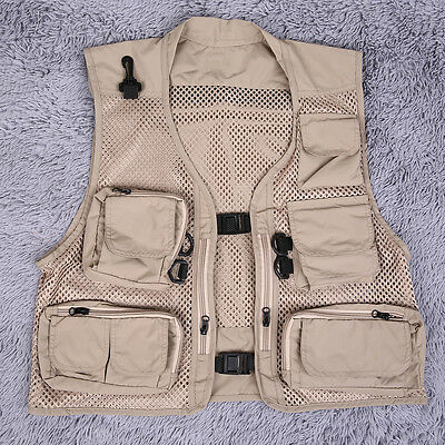 Buckle Men's Spring And Summer Fishing And Photography Work Mesh Vest Garment OW