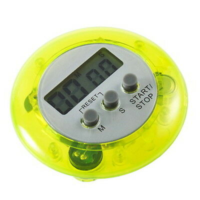 Mini Magnetic Round LCD Digital Cooking Kitchen Gadget Countdown Alarm Timer GF