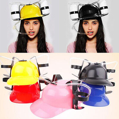 Drinking Helmet Beer Hard Hat Can Drink Holder Novelty Party Toys 5 colors NEW