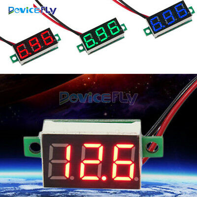 "Red/Blue/Yellow Grreen  0.36"" 2 Wire LED Panel Meter Voltage  Digital Voltmeter"