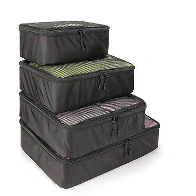 5pcs Travel Luggage Organizer Packing Cube Storage Pouch Shoe Bag Suitcase Black