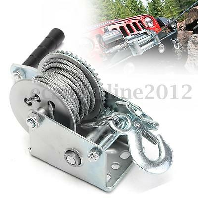 Heavy Duty Manual Hand Winch 600lbs 8m Cable For Boat Trailer Tools Tow Puller