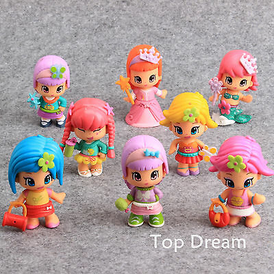 8pcs Cartoon Pinypon Figure PVC Action Figures Doll Toy Girls Kids Great Gift
