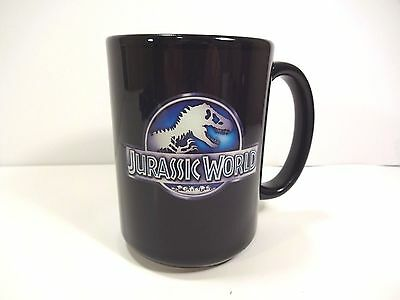 JURASSIC WORLD-BLACK- Coffee Mug Cup-NEW!