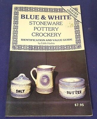 1979 BLUE & WHITE Stoneware Pottery Crockery Price Guide Paperback Book