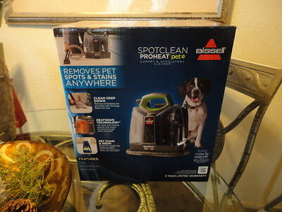 BISSELL SpotClean 5207W ProHeat Portable Spot Cleaner NEW Clean Carpet Pet Hair