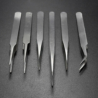 ESD Anti-Static Stainless Steel Tweezers Set Maintenance Electronic Jewellery