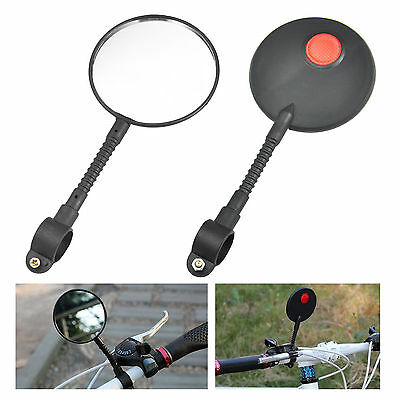 1 Pair Bike Bicycle Cycling Handlebar Rear View Rearview Mirror Glass Flexible