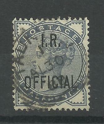 1840/04 Sg O5, 1/2d Slate Blue overprinted I.R.Official, with CDS, Fine used.