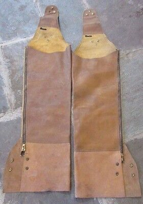 Vintage Western Cowboy/Motorcycle light  Leather Chaps