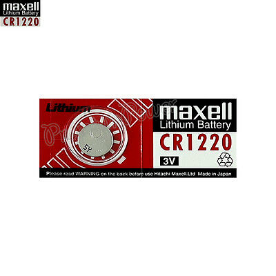 1 x Maxell Lithium CR1220 battery 3V Coin Cell DL1220 KCR1220 Watches EXP:2021