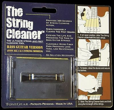 ToneGear The String Cleaner™: Bass Guitar Version ☆ BRAND NEW ☆ FREE UK P&P ☆