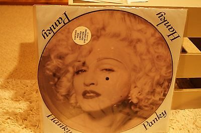 """Madonna   Hanky Panky    12"""" Vinyl Single Picture Disc with Poster"""