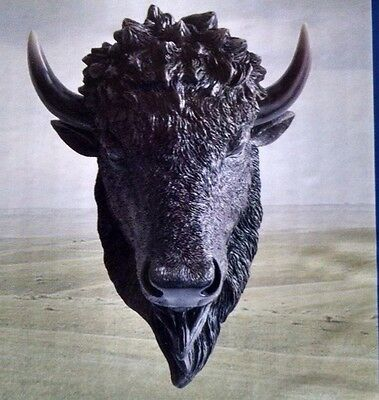 Buffalo Bust Figurine Home Decor Statue Collectible