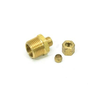 1/4 Tube OD to 1/2 Male NPT Gas Water Compression Pipe Fitting Adapter