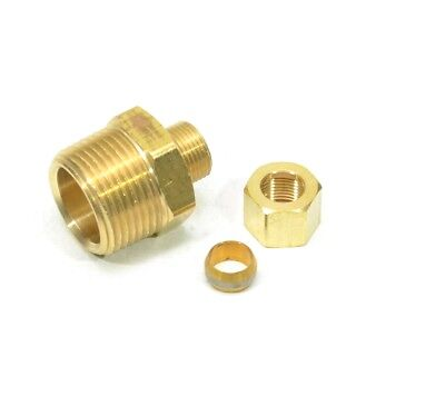 "3/8"" Tube OD Compression to 3/4"" Male NPT Fitting Adapter Connector"