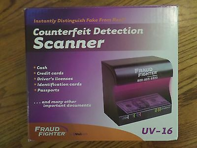 Fraud Fighter UV-16 Counterfeit Detection Scanner