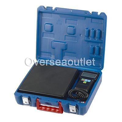UK 220lb Digital HVAC Refrigerant Charging Weighing Weight Electronic Scale