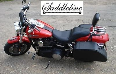 Saddleline harley-davidson DYNA FATBOB  FXDF  leather saddlebags Largest size