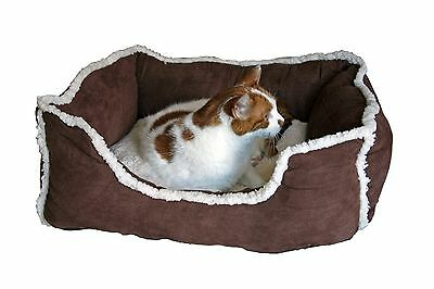Furs & Purrs Luxury Suedette Pet Bed For Cats or Small Dogs