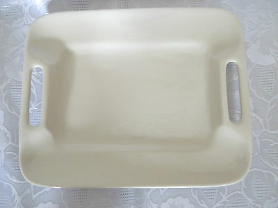 White Ceramic Platter Serving Dish Tray With Handles