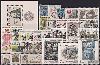 Czechoslovakia 1992, Complete Year Set Stamps + Sheet, **mnh**