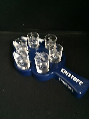 Eristoff vodka shot glasses And Paw Tray home bar pub man cave