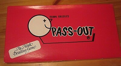 Frank Breeses Pass Out -adult drinking board game- complete
