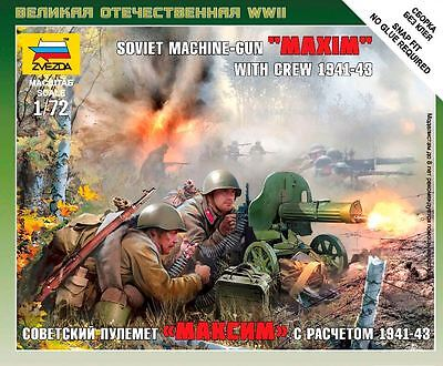 "Zvezda - Soviet machine-gun ""MAXIM"" with crew 1941-1943 - 1:72"