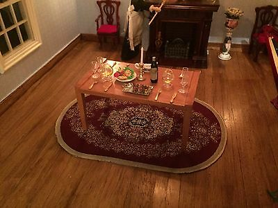 Dolls House dresse table set for dinner lot 4 Victorian Period 1/12th   scale
