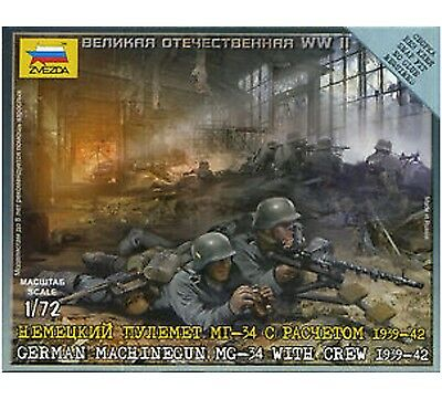Zvezda - German machine-gun MG-34 with crew 1939-1942 - 1:72