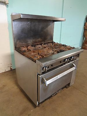 "Heavy Duty Commercial  ""imperial"" Natural Gas 6 Burners Stove Range  With  Oven"
