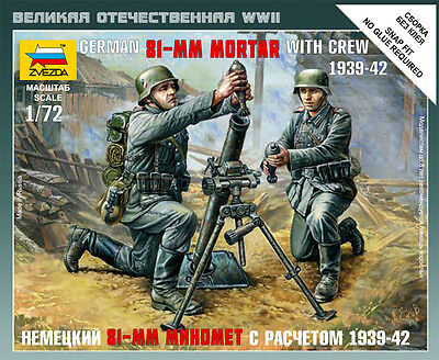 Zvezda - German 81 mm mortar with crew 1939-1942 - 1:72