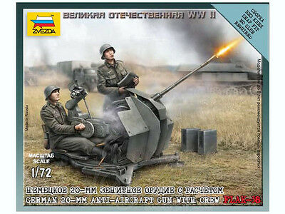Zvezda - German 20mm anti-aircraft gun with crew FLAK-38 - 1:72