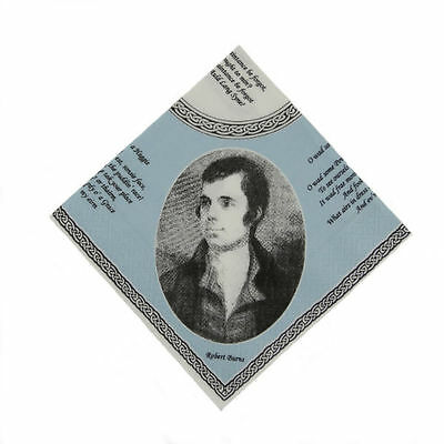Scottish Napkins with Burns Portrait and Poems (pack of 20)
