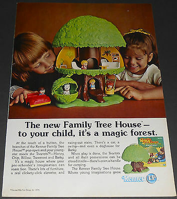 1975 vintage ad - KENNER FAMILY TREE HOUSE - CHILD BOY GIRL TOY 1-PAGE PRINT AD