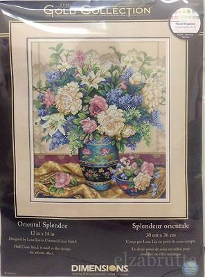 Dimensions Gold Collection 35163 Cross Stitch Kit Oriental Splendor Punto Croce
