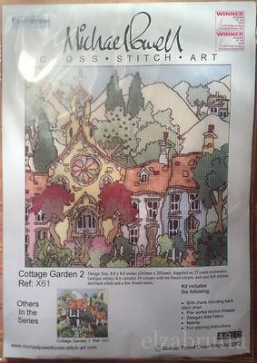 Michael Powell Cross Stitch Kit Cottage Garden 2 Punto Croce