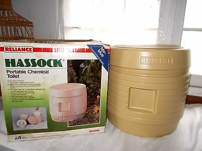 Reliance Hassock Portable Chemical Toilet Camping Outdoors