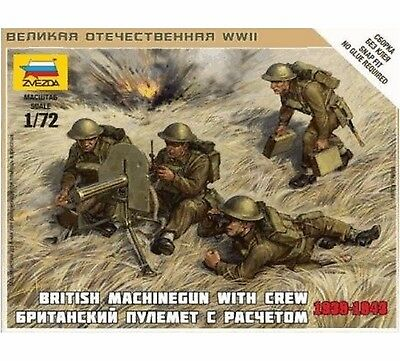Zvezda - British machine-gun vickers with crew - 1:72