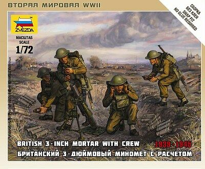 Zvezda - British 3-inch mortar with crew - 1:72