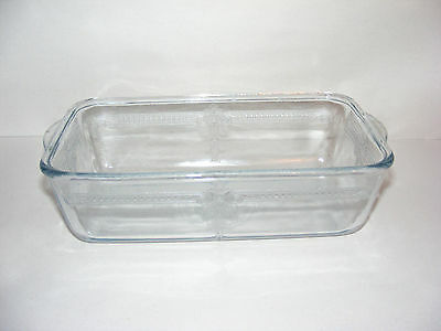 Vintage FIRE KING Sapphire BLUE PHILBE Bread LOAF Baking Pan Dish