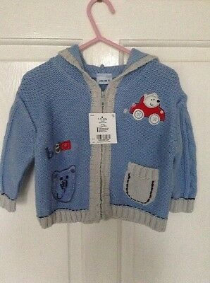 Baby Boys Cherokee Thick Cardigan 9-12months New With Tags