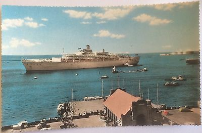 P&O S.S. ORIANA IN HARBOUR ADEN, Real Photo, Very Good Condition