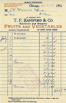 1901 T. F. Ransford & Co.. - Fruits & Vegatables - Chicago, Illinois
